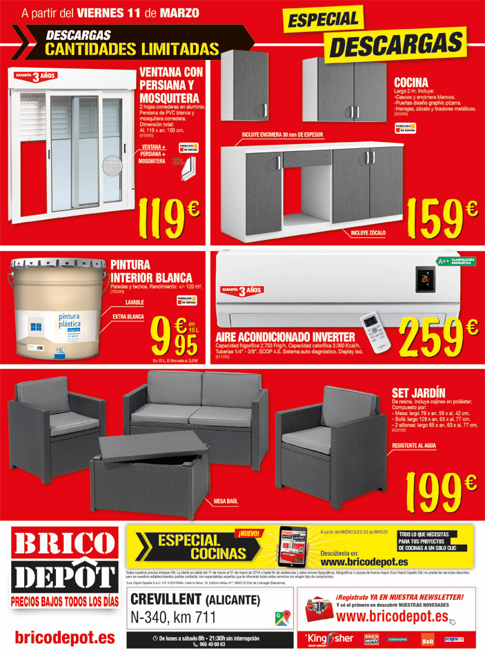 bricodepot crevillente hydraulic actuators. Black Bedroom Furniture Sets. Home Design Ideas